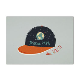 Postkarte 'Bester Papa der Welt'