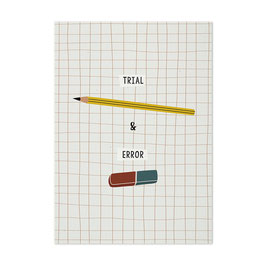 Postkarte 'Trial & Error'