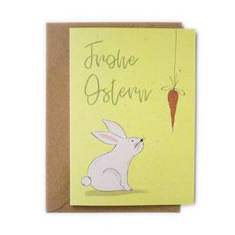 Grußkarte Möhrchen 'Frohe Ostern'