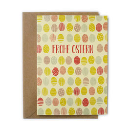 Grußkarte Ostereier 'Frohe Ostern'