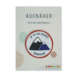 Aufnäher Berge 'Up To The Highest Mountains'