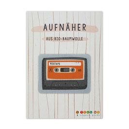 Aufnäher Kassette 'Mix Tape'