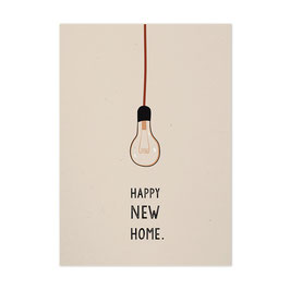 Postkarte 'Happy New Home.'