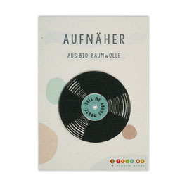 Aufnäher Vinyl 'Tell Me About Music'