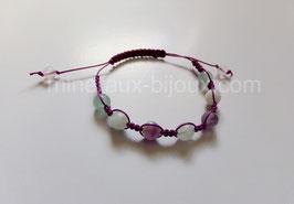 Bracelet tibétain fluorine