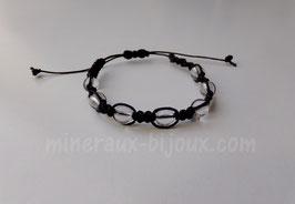 Bracelet tibétain cristal de roche
