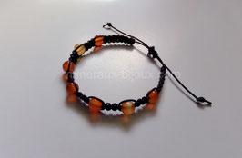Bracelet tibétain cornaline