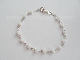 Bracelet de pierre de lune