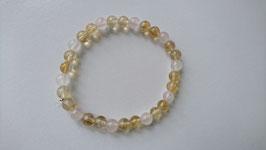 Bracelet citrine et quartz rose