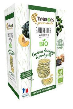 Gaufrettes BIO Pavot Grillé et Graines de Courge