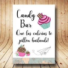 Cartel candy bar viajero fb