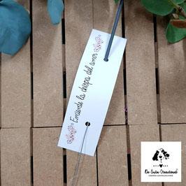Bengala + cartón flores salmón rectangular