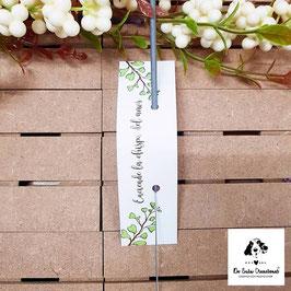 Bengala rectangular + cartón hojas verdes