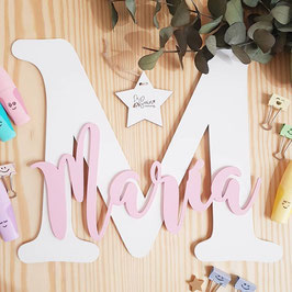 Letra gigante blanca personalizada con nombre (Mag)