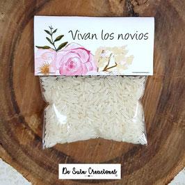 Bolsa de arroz flores dulces