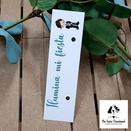 Cartón para bengala comunión niño celeste