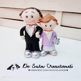 Muñecos tarta bodas de plata