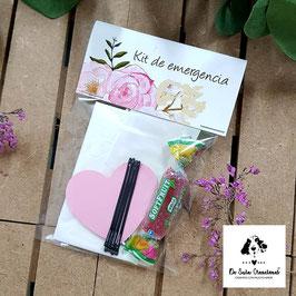 Cartón y bolsa de celofán vacía para kit de emergencia (No incluye nada en la bolsa)