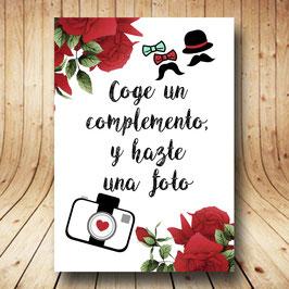 Cartel photocall rosas rojas fb