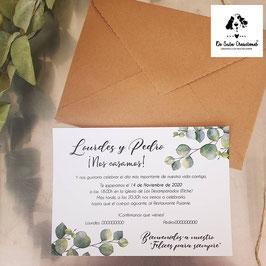 Invitación eucalyptus
