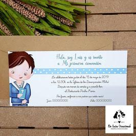 Invitación comunión niño 2