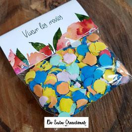Bolsas de confeti flor de papel