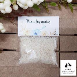 Bolsita de arroz aguamarina