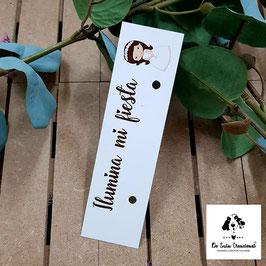 Cartón para bengala comunión niña morena letra marrón