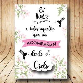 Cartel en honor estrellas rosas fb