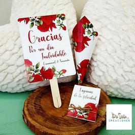 Pack 3 piezas rosas rojas (pai pai, cono y lágrima de la felicidad)