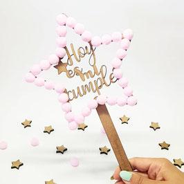 Topper estrella feliz cumpleaños estrepom