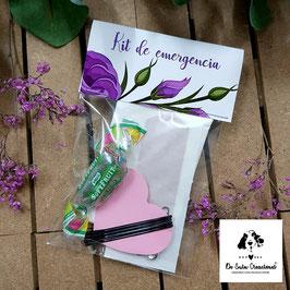 Kit de emergencia flores lilas
