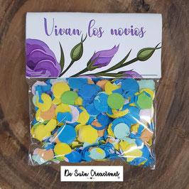 Bolsa de confeti flores lilas
