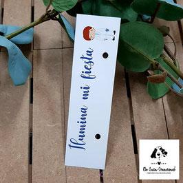 Cartón para bengalas comunión niño traje blanco