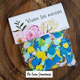 Bolsa de confeti flores dulces