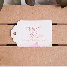 Tarjeta para detalles rectangular colección algodón
