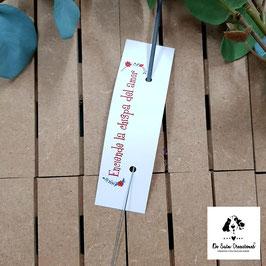 Bengala + cartón flores rojas rectangular