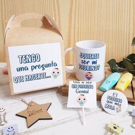 kit bautizo bebé para padrino ¿quieres ser mi padrino? CAAS/CH/TAZ/PIR/