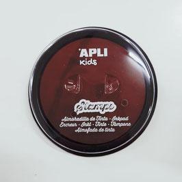 Almohadilla  redonda de tinta marrón