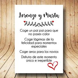 Cartel instrucciones ceremonia corazón fb