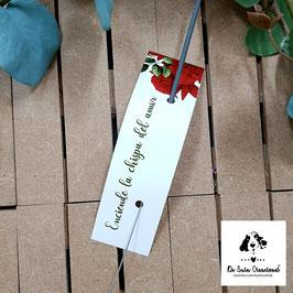 Bengala + cartón rosas rojas rectangular