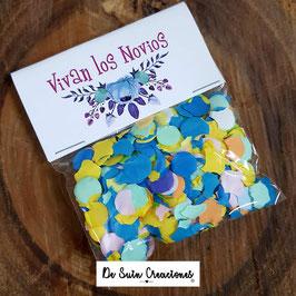 Bolsa de confeti flores azules