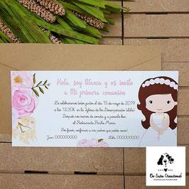 Invitación comunión niña 2