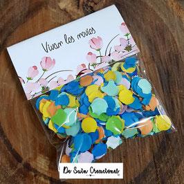 Bolsa de confeti flores salmón