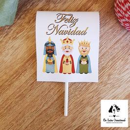 Piruleta de navidad Reyes Magos