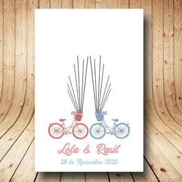 Árbol de huellas personalizado bicicleta