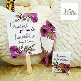 Pack flores lilas (pai pai, cono , lágrima de la felicidad)