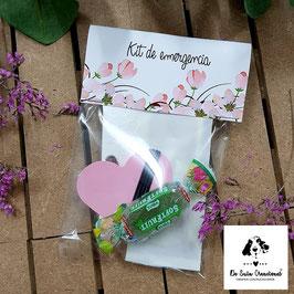 Kit de emergencia flores salmón