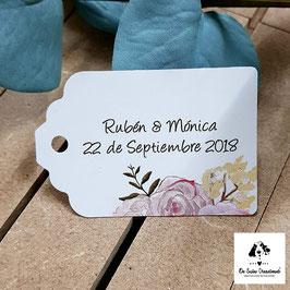 Tarjeta para detalles rectangular flores dulces