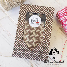Caja con corbata y gemelos para el padrino marrón